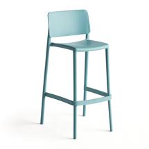 Barová židle Rio, výška sedáku 750 mm, tyrkysová