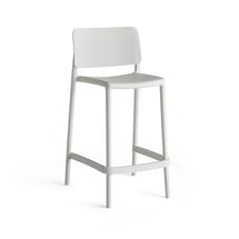 Barová židle Rio, výška sedáku 650 mm, bílá