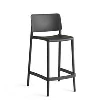 Barová židle Rio, výška sedáku 650 mm, tmavě šedá