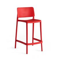 Barová židle Rio, výška sedáku 650 mm, červená