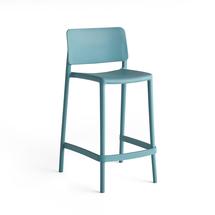 Barová židle Rio, výška sedáku 650 mm, tyrkysová