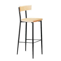Barová židle Edmond, buk/černá