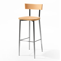 Barová židle Edmond, buk/chrom