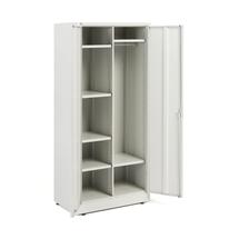 Policová/šatní skříň, 1800x800x500 mm, šedá