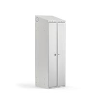 Šatní skříňka Classic Combo, 1 sekce, 1900x600x550 mm, šedá/šedé dveře