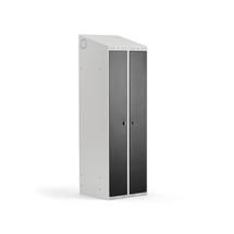 Šatní skříňka Classic Combo, 1 sekce, 1900x600x550 mm, šedá/černé dveře