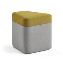 Taburet Point, světle šedá, žlutá