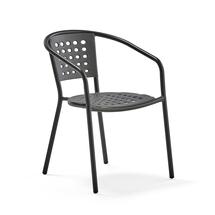 Křeslo Capri, černé, šedý sedák