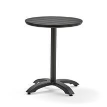 Zahradní stůl Piazza, Ø 600 mm, černá, černé umělé dřevo