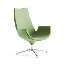 Lounge křeslo Enjoy, vysoké opěradlo, světle zelené