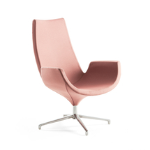 Lounge křeslo Enjoy, vysoké opěradlo, světle růžové