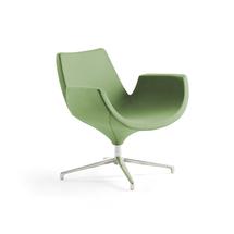 Lounge křeslo Enjoy, nízké opěradlo, světle zelené