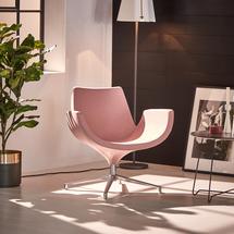 Lounge křeslo Enjoy, nízké opěradlo, světle růžové