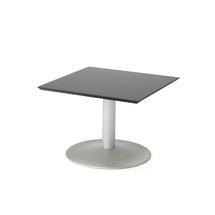 Konferenční stolek Crosby, 700x700 mm, černá/hliníkově šedá