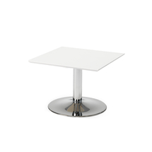 Konferenční stolek Crosby, 700x700 mm, bílá/chrom