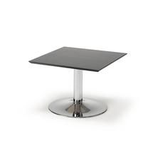 Konferenční stolek Crosby, 700x700 mm, černá/chrom