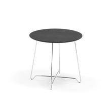 Konferenční stolek Iris, výška 460 mm, chrom, černá deska