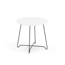 Konferenční stolek Iris, výška 460 mm, černá, bílá deska