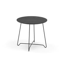Konferenční stolek Iris, výška 460 mm, černá, černá deska