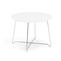 Konferenční stolek Iris, výška 510 mm, chrom, bílá deska
