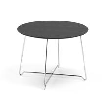 Konferenční stolek Iris, výška 510 mm, chrom, černá deska