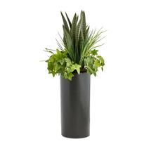 Květinová dekorace, černý květináč