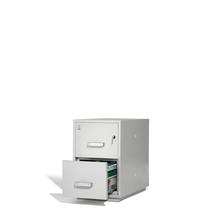 Ohnivzdorná kartotéka Ensure, 2 zásuvky, mechanický zámek na klíč