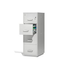 Ohnivzdorná kartotéka Ensure, 4 zásuvky, mechanický zámek na klíč