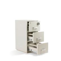 Ohnivzdorná kartotéka, 3 zásuvky, 1210x550x750 mm, el. kódový zámek