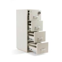 Ohnivzdorná kartotéka, 4 zásuvky, 1580x550x750 mm, el. kódový zámek