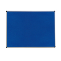 Nástěnka, 900x1200 mm, modrá, hliníkový rám