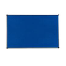 Nástěnka, 1200x2000 mm, modrá, hliníkový rám