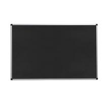 Nástěnka, 1200x2000 mm, černá, hliníkový rám