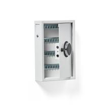 Skříňka na klíče, 48 háčků, el. kódový zámek, 450x300x100 mm
