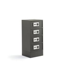 Bezpečnostní skříňka Value, 4 oddělené boxy s elektronickým kódovým zámkem