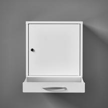 Lékárnička Cure, se zásuvkou, zámek na klíč, 455x400x300 mm