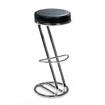 Barová stolička Baltimore, černá koženka/chrom