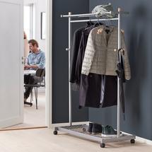 Věšák na oděvy Jasper, mobilní, 1800x1150x550 mm