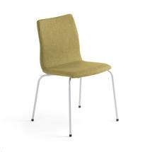 Konferenční židle Ottawa, olivově zelený potah, šedá