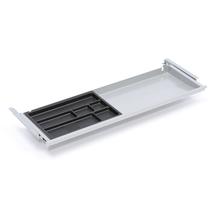Zásuvka s plastovým organizérem, 871x260x32 mm, stříbrná