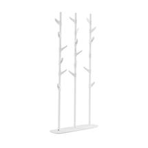 Moderní věšák, 18 háčků, bílý