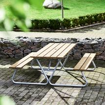 Extra dlouhý stůl Picnic, lavice bez opěradla, 1800 mm, hnědý
