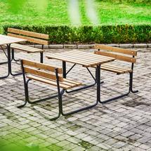 Stůl s lavicí Park, 1000 mm, hnědý