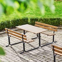 Stůl s lavicí Park, 1500 mm, hnědý