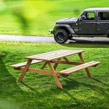 Stůl s lavicí Camp, 1800 mm, hnědý