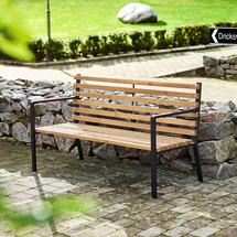 Parková lavička Public, hnědá