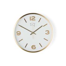 Nástěnné hodiny, tichý chod, Ø 300 mm, mosaz