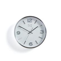 Tiché nástěnné hodiny, Ø 300 mm, stříbrné