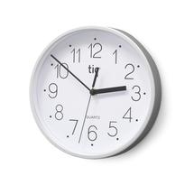Nástěnné hodiny, plastové, bílé, ø 225 mm