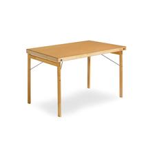 Skládací stůl Amber, 1200x700 mm, lakovaná dřevovláknitá deska/dřevěné nohy